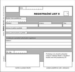 Registraèní list I - III - zvìtšit obrázek