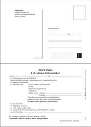 Pozvánka k dìtskému lékaøi - zvìtšit obrázek