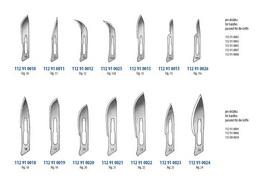 Skalpelové èepelky sterilní - zvìtšit obrázek