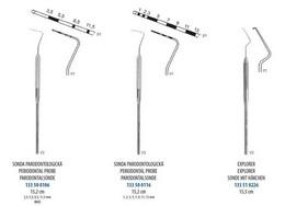 Sondy parodontologické - zvìtšit obrázek